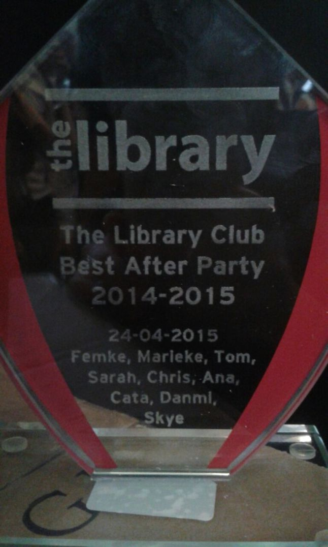 I won an award at the Library anniversary party!
